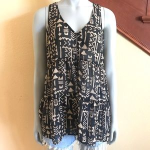 Forever 21 Tribal Print Tunic Size Medium